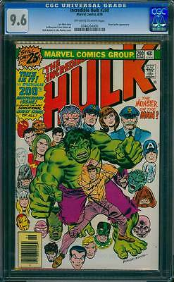 Incredible Hulk # 200 Anniversary Issue ! Silver Surfer ! CGC 9.6 scarce book !