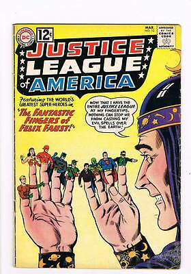 Justice League of America # 10  Fingers of Felix Faust ! grade 4.5 scarce book !