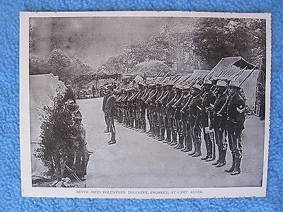 """1899 Spanish American War Photo Print- """"9th Ohio Colored Infantry,at Camp Alger"""""""