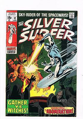 Silver Surfer # 12 Gather,Ye Witches ! Abomination  grade 7.5 scarce book !!