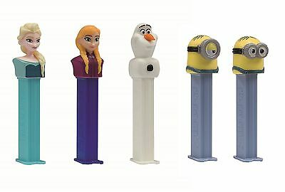 CHARACTER - DISNEY FROZEN Despicable Me MINIONS PEZ HEADS Sweets/Candy Dispenser