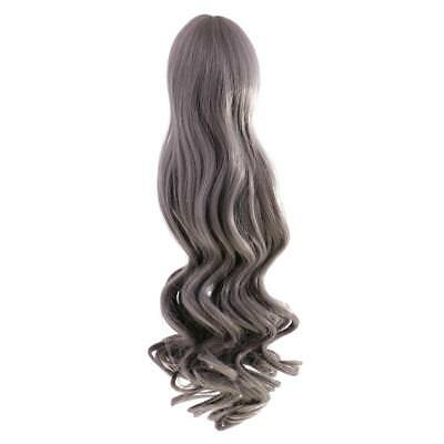 Fashion Wavy Curly Hair Wig for 18'' American Girl Doll DIY Change Grey#4