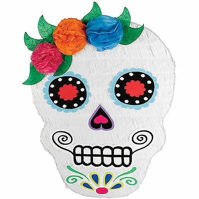 53cm Halloween Day Of The Dead SUGAR SKULL Bash PINATA Party Game Decoration