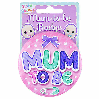 Pink New Baby Shower MUM TO BE Party Favour Accessory Gift Large Badge