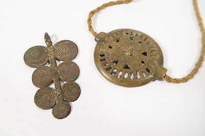 Alte Perle und Anhänger Ornaments Akan Old used pendant brass bead Afrozip