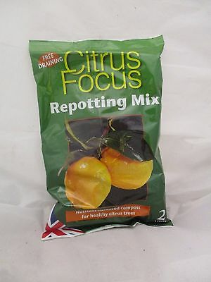 Citrus Focus Repotting Mix 2 Litre Nutrient-Balanced Compost [792R]