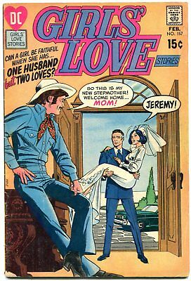 GIRLS' LOVE STORIES #157 cowboy western bride cover dc romance comic vg-
