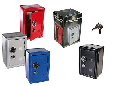 Novelty Combination Money Safe Box Savings Bank With Key Mini Piggy Bank Cash