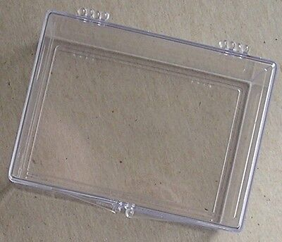 100 Card Hinged Plastic Trading Card Storage Boxes - Lot of 10 Storage Boxes