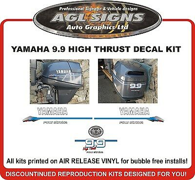 YAMAHA 9.9 HIGH THRUST  Outboard Decal Kit   reproductions
