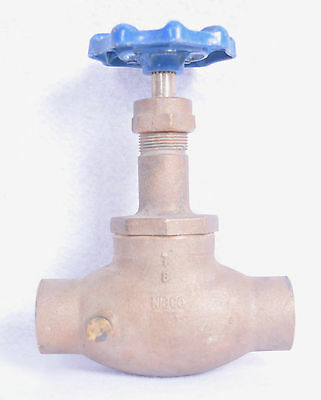 """NEW Nibco 1"""" Gate Valve With Pressure Release 125 SWP 200 CWP Sweat FREE SHIP"""