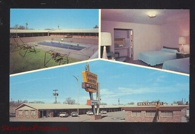 Tucumcari New Mexico Route 66 Sahara Sands Motel Aaa Old Cars Postcard Nm