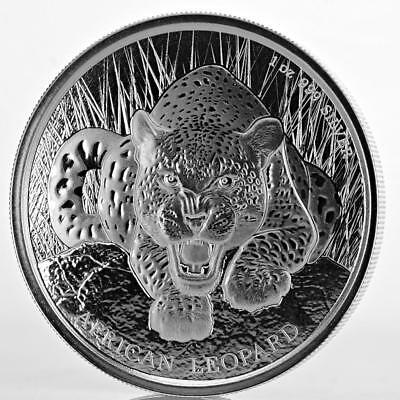 2017 1 oz Ghana Leopard .999 Silver Coin 5 Cedis BU Proof-like #A428