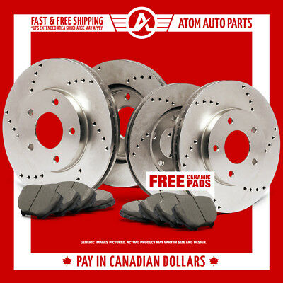 2004 Cadillac Deville (See Desc.) (Cross Drilled) Rotors & Ceramic Pads F+R