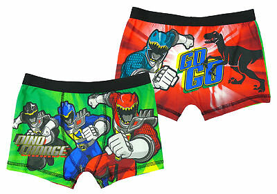 Boys Power Rangers Dino Charge Underpants Trunk Fit Boxer Shorts 4 to 8 Years