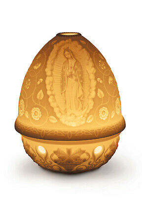 Lladro Lithophane Votive Light ''our Lady Of Guadalupe'' Bnib #17367 Save$$ F/sh