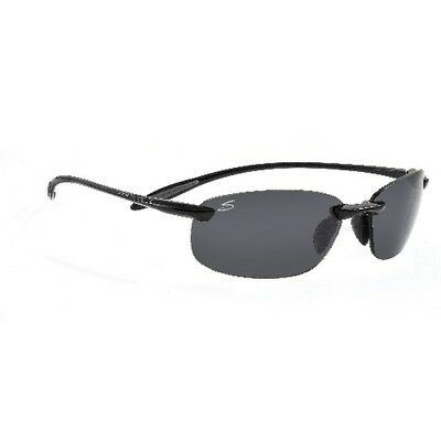 Serengeti 7359 Shiny Black Nuvola Sunlasses w/ Polarized PhD CPG Lenses