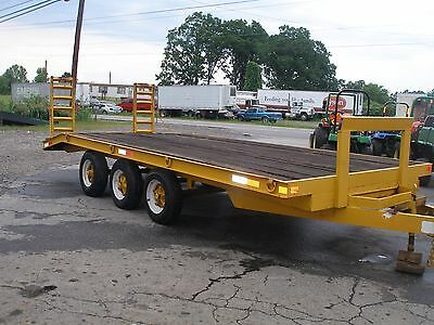 1990  Hurst 10000 Lb 18 Ft  Triaxle   Pintel Hook  Trailer  With Electric Brake