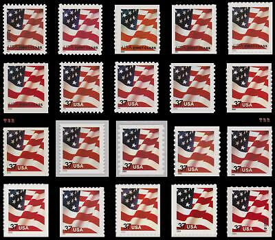 Flag 37c All 20 3620 to 3625 3629F 3632 3633A 3633B 3634 3636D 3637+ MNH Buy Now