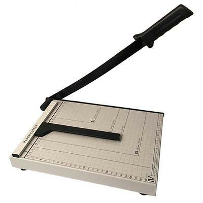 "Heavy Duty Guillotine Paper Cutter 12"" A4 Precision Rotary Metal-Base Trimmer US"