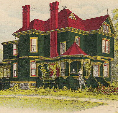 Victorian House Paint Podrasnik-Klapperich Chicao Home Improvement Ad Trade Card