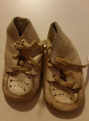 Vintage Leather Laceup Baby Shoes
