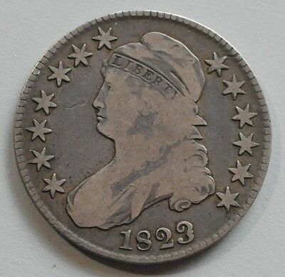 1823 Capped Bust Half Dollar - FREE SHIPPING