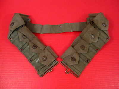 WWII US Army Dismounted M1923 Ammunition Cartridge Belt - M1 Garand - OD Green 2