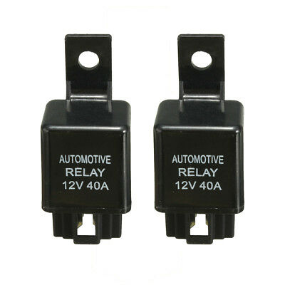 2PCS 12V 40A 40 AMP Car Auto Automotive Van Boat Bike 4 Pin SPST Alarm Relay NEW