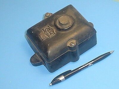 Antique / Vintage Industrial Iron Push Button Electric Switch