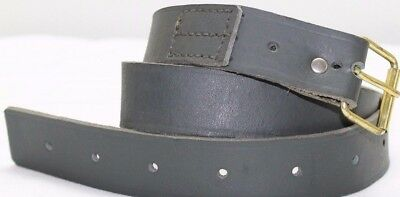 New WWII Italian green leather belt adjustable size 28in to 40in each  E2760