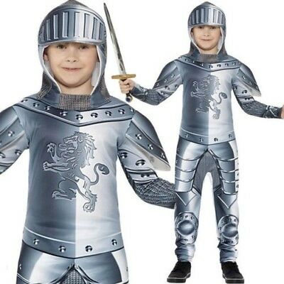 Child Armoured Knight Costume Boys Medieval Crusader Fancy Dress Outfit New  sc 1 st  PicClick & CHILD MEDIEVAL KNIGHT Fancy Dress Costume Kids Boys New 3-13 Years ...