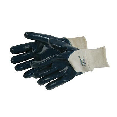 Open Back Jersey Lined Nitrile Gloves -One Size- Protective Wear, Excellent Grip