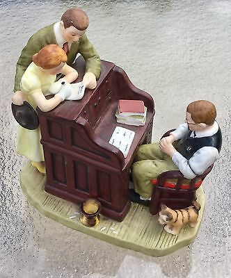 """Norman Rockwell """"The Marriage License"""" Gift World of Gorham 1982 Figurine"""