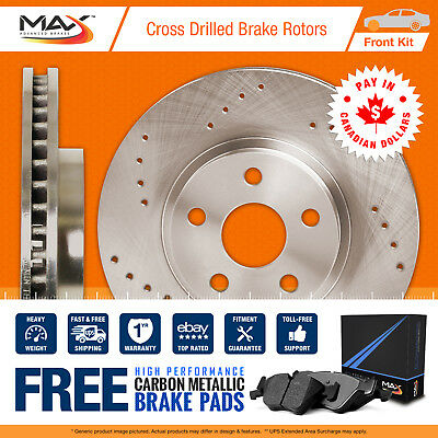 2009 2010 Volvo XC70 (See Desc.) Cross Drilled Rotors & Metallic Pads Front