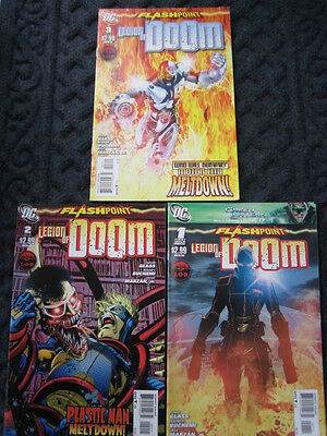 FLASHPOINT. LEGION of DOOM - SET OF 3. ADAM GLASS. IT ALL CHANGED HERE!  DC.2011