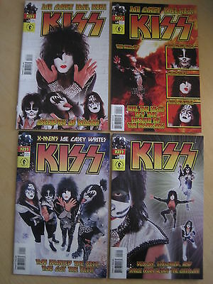 KISS : COMPLETE RUN of #s 1,2,3,4 PHOTO CVRS.GENE SIMMONS.DARK HORSE.2002 series