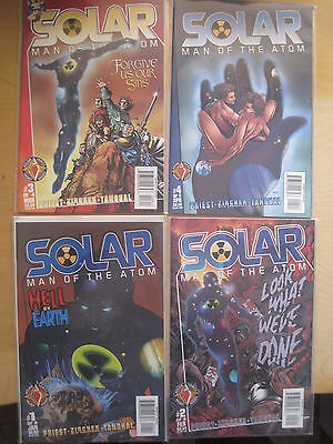 SOLAR, MAN of the ATOM :COMPLETE 4 ISSUE SERIES by PRIEST.VALIANT / ACCLAIM.1997