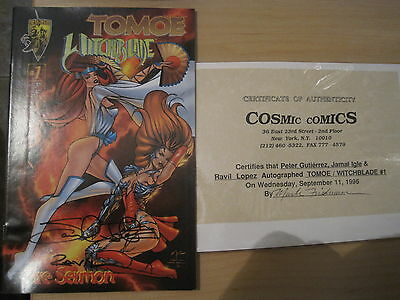 WITCHBLADE / TOMTOE 1 signed by CREATORS GUTIERREZ, IGLE & RAVIL. CRUSADE.1996