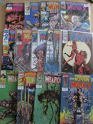 WOLVERINE, WEAPON X : complete ORIGINAL 13 issue story in MARVEL C P 72-84.SMITH