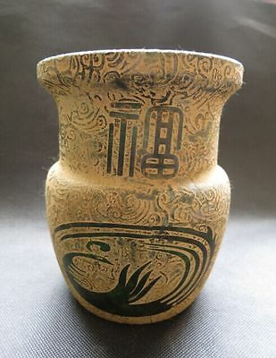 Chinese antiques,noble collection,hand-carved,qianlong year,jade,blessed,Pot