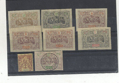 Lot 8 Timbres Obock Afrique