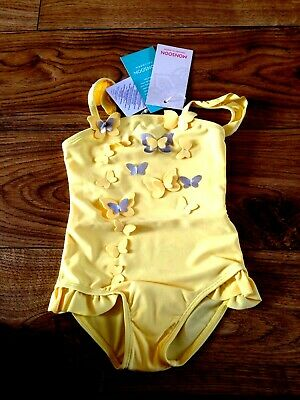 162248ed4f42b Rrp £12 Monsoon yellow butterfly appliqué swimsuit 12-18 months
