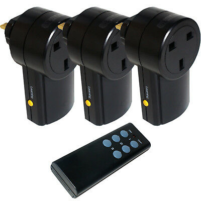 3x Remote Control UK 240V Wireless Mains Socket – Switch Adapter Plug In RF