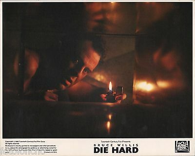 "BRUCE WILLIS in ""Die Hard"" - Original Vintage COLOR Lobby Card - 1988"