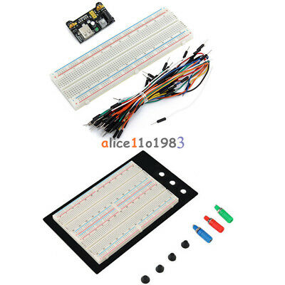 400/830 MB102 Point Breadboard 1660 Power Supply module W Jump Wire For Arduino