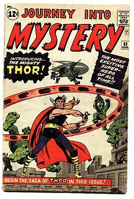 JOURNEY INTO MYSTERY #83 comic book-1st THOR Jack Kirby 1962