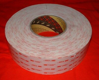 3M - VHB Tape 4930 - White Double Sided Adhesive Tape 50mm x 33m