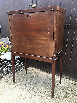 antique mahogany drinks linen cabinet cupboard