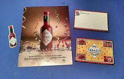 TABASCO Postcard Cookbook Recipe Cards Magnet and Paper Ad Advertisement 1993